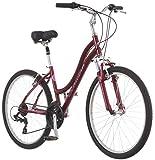 Schwinn Suburban Deluxe Comfort Hybrid Bike, Featuring Low Step-Through Aluminum Frame and 21-Speed...