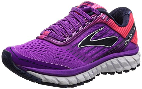 Brooks Ghost 9, Zapatos para Correr para Mujer, Rosa (Purplecactusflower/divapink/patriotblue), 36.5 EU