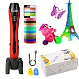 Fuloon 3D Print Pen for Children with LCD Display Adjustable Printing Speed