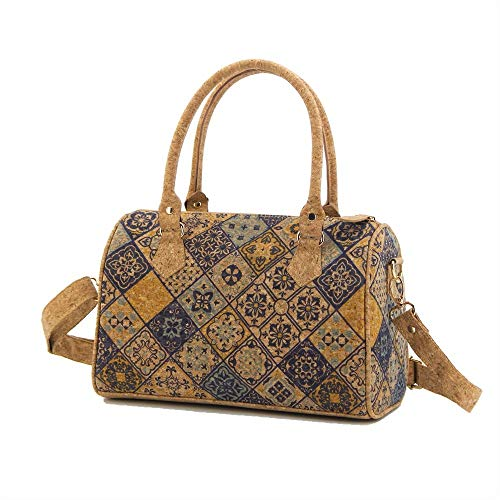 Nakalara - Bolso de piel de corcho, ligero, ecológico, sostenible, suave, elegante y duradero, hecho a mano