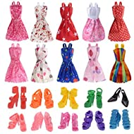 Rainbow Yuango Barbie Dolls Clothes, 10 pack