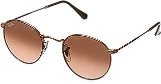 Bundle: Ray-Ban RB3447 Round Metal Shiny Light Bronze/Pink Gradient Brown 47mm