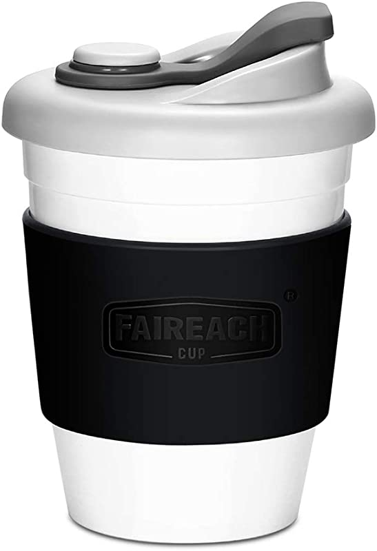 Coffee Cup With Lid Faireach Reusable Coffee Mug With Non Slip Sleeve Coffee Tumbler With FDA Approved And BPA Free Safe Material Dishwasher Microwave Safe 12 Oz