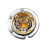 Male Nature Habitat Tiger Head Soporte para Bolso portátil Colgador para Bolso Mesa Diseños únicos Sección Plegable Bolsas de Almacenamiento Colgador