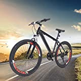 Fetcoi Mountainbike 26 Zoll - Fahrräder für Jungen, Mädchen, Frauen und Männer - Scheibenbremsen vorne und hinten - 21-Gang-Schaltung - Vollfederung