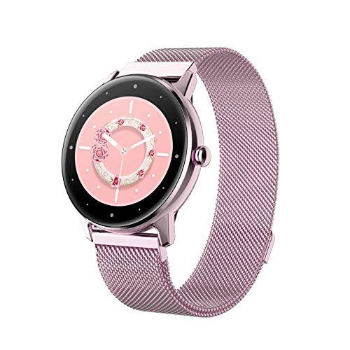 Relojes inteligentes para mujeres, pantalla táctil completa de 1.09 ', podómetro a prueba de agua IP68, reloj con monitor de sueño, regalos navideños, reloj inteligente para teléfonos Android e iOS