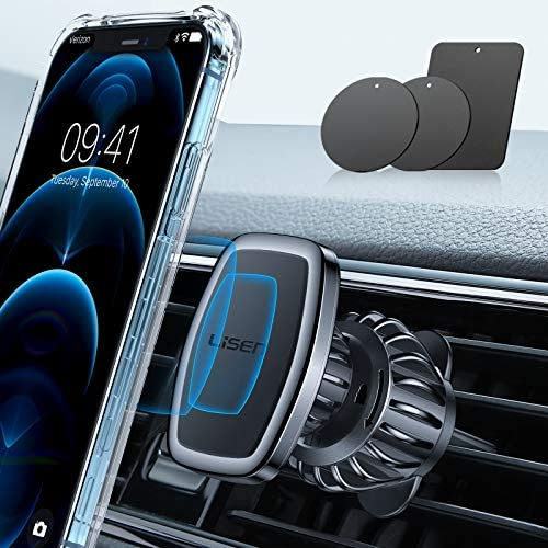LISEN Car Phone Holder Mount Upgraded Clip Magnetic Phone Car Mount 6 Strong Magnets Cell Phone product image