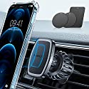 LISEN Handyhalterung Auto Magnet 2021 Upgraded Clamp Handyhalter Auto Zubehör Lüftung KFZ Handy Halterung mit 6 Starke Magnet 3 Metallplatte, Kompatibel für iPhone Samsung Huawei Smartphone