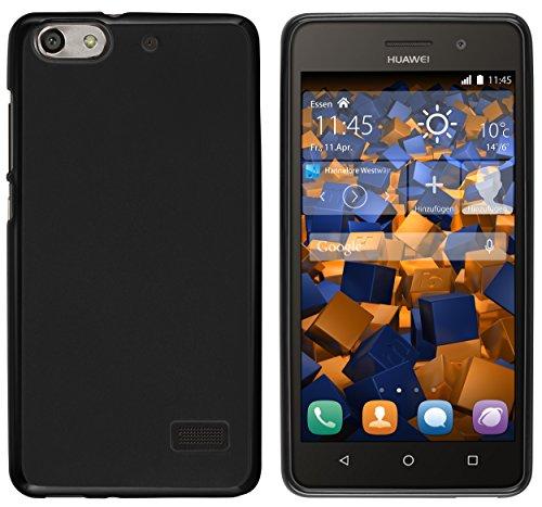 mumbi Hülle kompatibel mit Huawei G Play Handy Case Handyhülle, schwarz