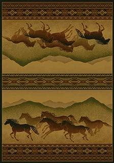United Weavers of America Genesis Collection Chestnut Mare Heavyweight Heat Set Olefin Rug, 1-Feet 10-Inch by 3-Feet, Lodge