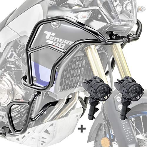 Set Defensas + Faro Adicional XL para Yamaha Tenere 700 19-21 Negro