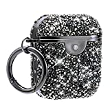 AirPods Case Black Diamonds Protective Hard AirPods 2&1 Case Cover Portable & Shockproof with Keychain Compatible with Apple AirPods 2&1 Charging Cases