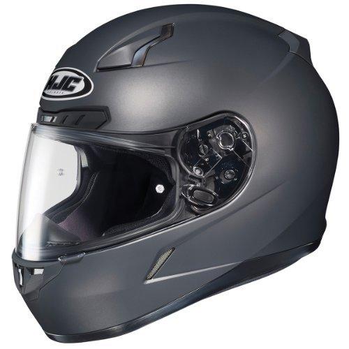 HJC 824-583 CL-17 Full-Face Motorcycle Helmet (Matte Anthracite, Medium)
