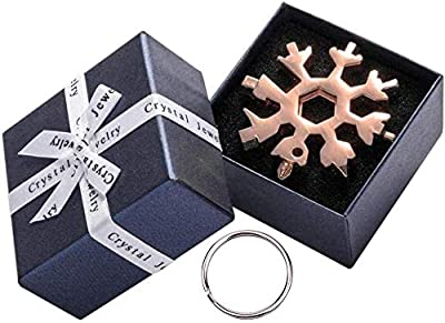 Snowflake Multitool 18 In 1, Incredible Snowflakes Tool, Stainless Steel Multi-Tool With Gift Box