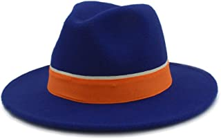 2019 Good Hat For Men Women Winter Fedora Hat With Orange Cloth Belt Panama Hat Wide Brim Church Fascinator Hat Casual Hat, Size 56-58CM