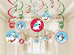 Joyful Snowman Hanging Swirls