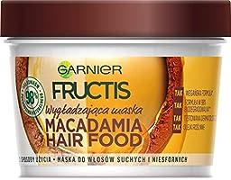 Garnier Fructis Macadamia Hair Food maska do włosów suchych i niezdyscyplinowanych, intensywnie nawilża i ogranicza...