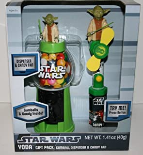 Star Wars Gumball Dispenser & M&Ms Candy Gift Pack (Darth Vader or Yoda)