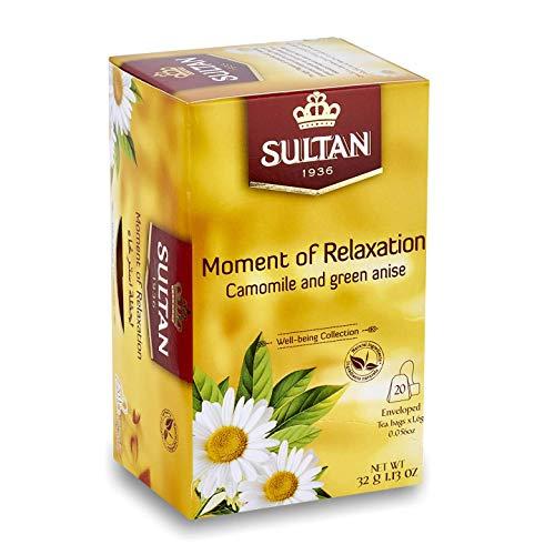 SULTAN TEA Moment der Entspannung, marokkanischer Tee mit Kamille und grünem Anis Kräutertees (Einzelpackung - 20 Teebeutel)