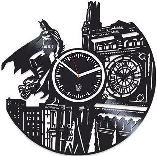 Kovides Batman Returns Gotham City, Best Gift Man, Vinyl Record Clock, Vinyl Wall Clock Home Decor, for Boyfriend, Wall Clock Large, Comics Marvel Clock, DC Movie Gift