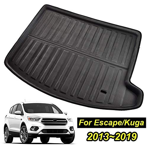 XIANGSHAN For Ford Escape Kuga 2013 2014 2015 2016-2019 3d Boot Mat Rear Trunk Liner Cargo Floor Tray Carpet Mud Kick Protector Overlay