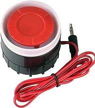 Carcasa Resistente a Salpicaduras. Sirena de Alarma de 230 V con Cable de 1,8 m y Enchufe Europeo