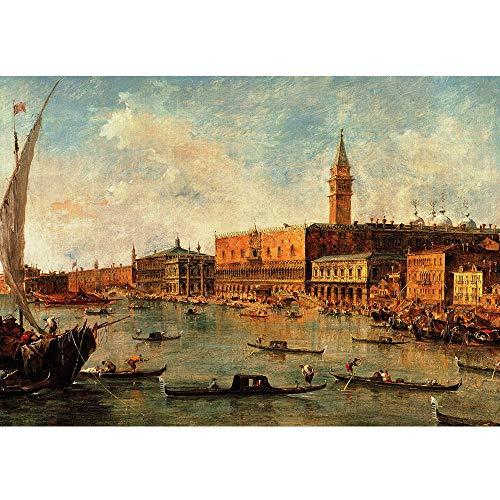 MTAMMD Puzzles Berühmte Gemälde Venedig Ansicht 3D Puzzle 1500 Teile Puzzle Adulto Geschenk Für Kinder-1000Pieces