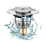 aycykd pop up spine del lavandino universale bullet core spingere il tipo, bagno spina senza troppopieno bacino filtro di scarico con cestino per la cucina, bagno(34-40mm)