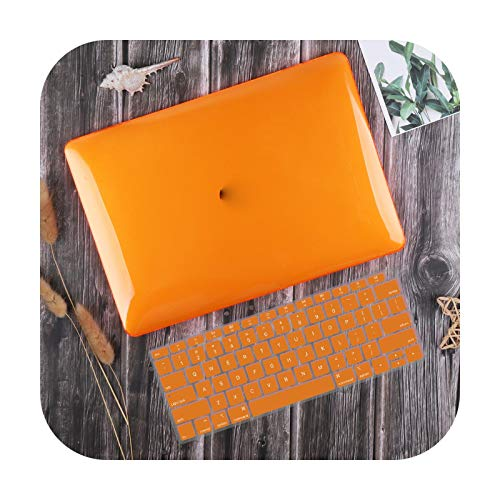 For Macbook Air 13 Inch Case 2020 M1 A2337 A2179 Crystal Smooth Plastic Hard Cover For Mac Book Pro 13-Inch A2338 A2251 A2289-Orange-2010-2017 Air 13