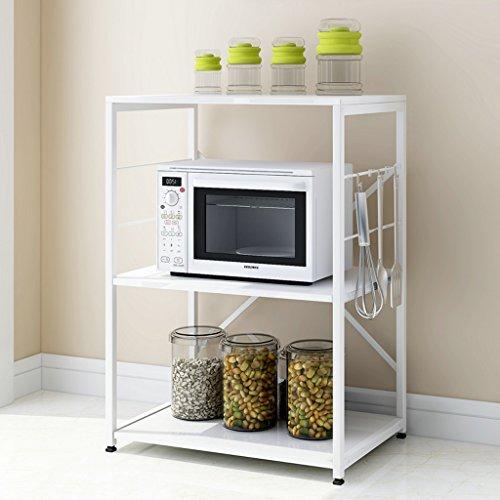 LITINGMEI Shelf Küche Regale Boden mehrstöckigen Home Storage Lagerung Mikrowelle Regal Regal Gewürze Ofen Rack L * B * H: 60 * 40 * 83 cm (Farbe : Weiß)