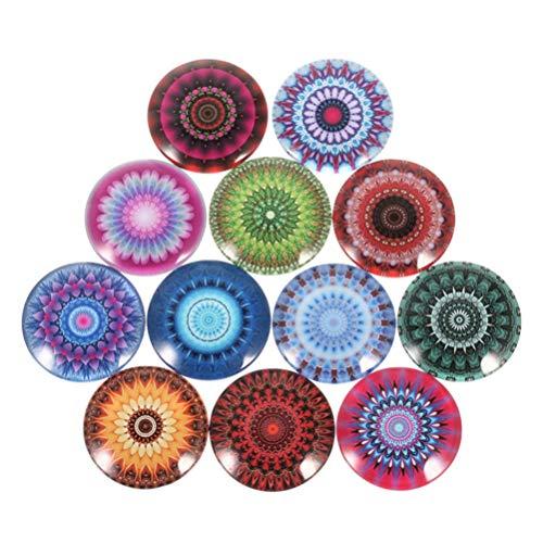 HEALLILY 20 cabujones cúpula redonda estilo étnico cabujones de espalda plana para colgantes cameo foto bisel bandeja pendientesjoyería