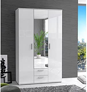 Finlandek Armoire de Chambre selkeä 121 cm - Blanc Brillant