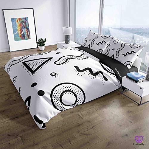 Flutterfly duvet cover king size superk duvet cover queen superk bedding set bed set queen housse de couette superking Neo Memphis Design (44-1113) design