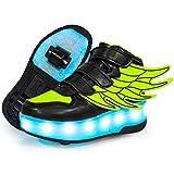 WFSH Patines LED de niños Unisex, Zapatillas de Patinaje de Rodillos, Entrenadores de Gimnasia al Aire Libre, Patines técnicos para niños y niñas (Color : K, Size : 30)