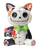 SUMMIT COLLECTION Furrybones Calico Mao Mao Signature Skeleton in Kitty Cat Costume with a Mouse