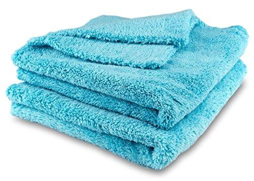 ELEXACLEAN Poliertücher, Staubtücher, Mikrofasertücher randlos, kratzfrei (2 Stück, 40x40 cm) Premium Flausch-Tuch für Auto, Lack, Innenraum, Haushalt