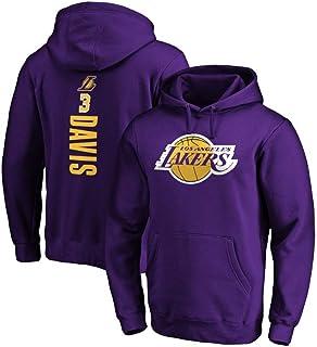 Felpa da uomo e donna con cappuccio, a maniche lunghe, Los Angeles Lakers #3, Anthony Davis, adatta per autunno e inverno
