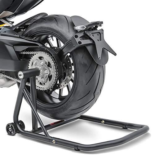 Caballete Trasero Ducati Hypermotard 939 SP 16-18 negro mate, ConStands Single por Basculante Monobrazo, adaptadore incl.