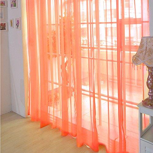 Janly Clearance Sale 1 cortina de tul de color puro para puerta o ventana, cortina de cortina para bufanda, decoración del hogar para el día de Pascua (F)