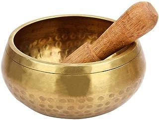 ZOUJUN Yoga Practice Song Bowl Pronunciation Bowl Decoration Singing Bowl Tibetan Buddhist Prayer Instrument with Striker ...