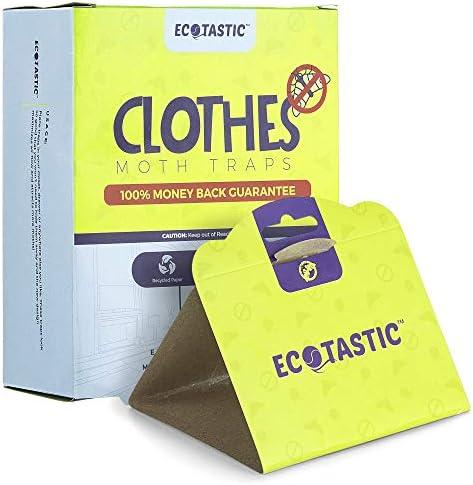 ECOTASTIC Clothing Moth Traps - 11 Count - Foldable Moth - Eco-Friendly Hassle Control - Pheromone Technology - Closet Mothballs - Wood/Carpet/Clothes