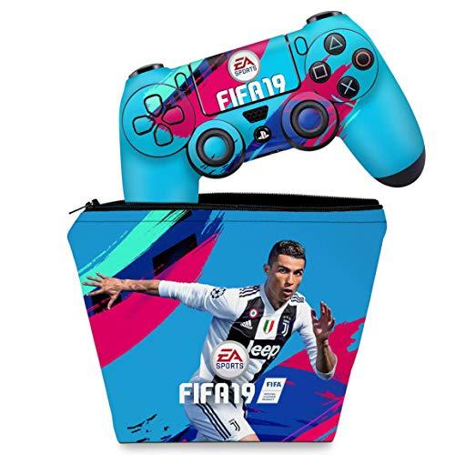 Capa Case e Skin Adesivo PS4 Controle - FIFA 19