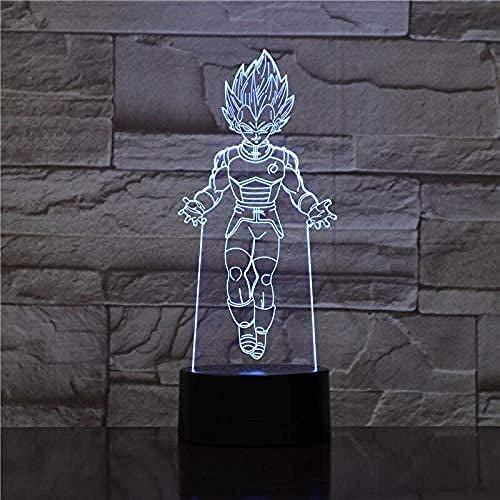 Lámpara de ilusión 3d leuminary animal forma de rana atmósfera mesa escritorio dormitorio-7 colores cambiantes