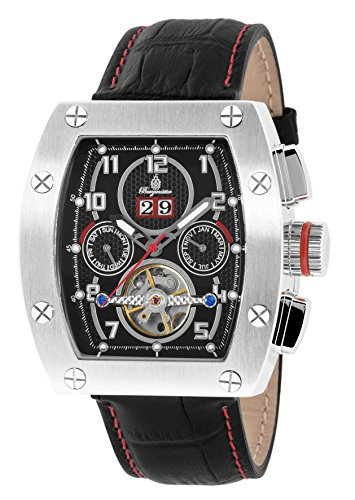 Burgmeister Armbanduhr für Herren mit Analog Anzeige, Automatik-Uhr und Lederarmband - Wasserdichte Herrenuhr mit zeitlosem, schickem Design - klassische Uhr für Männer - BM358-122 Lucan