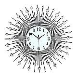 FGHJU Giant Metal Wall Clock,Modern Living Room...