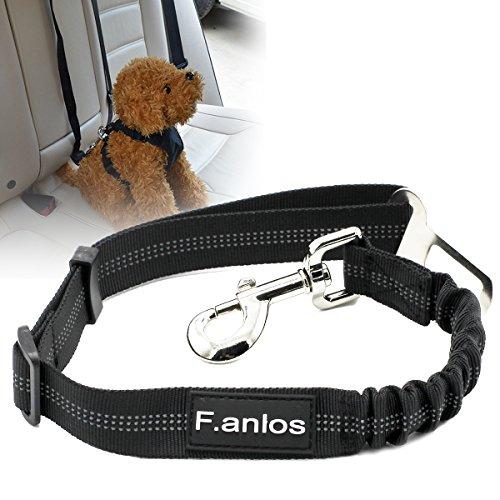 F.anlos Hunde-Sicherheitsgurt, Hunde Sicherheitsgurt für Auto, Hunde-Anschnallgurt fürs Auto mit elastischer Rückdämpfung, mit elastischer Ruckdämpfung höchste Sicherheit