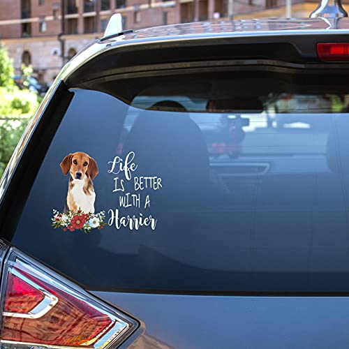 Life is Better with a Harrier car Decal