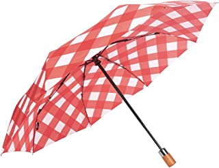 Fully Automatic Opening and Closing Folding Umbrella, Rain and Rain Umbrella, Simple Solid Color Business Umbrella, A Variety of Colors Available HYBKY (Color : Pink)