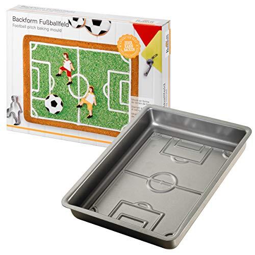 Birkmann Diseño molde de campo de fútbol, acero, multicolor, 22x 30x 4.5cm, 1 unidad