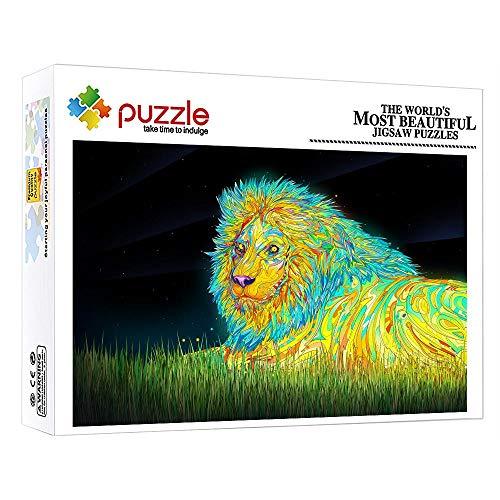 FFGHH Puzzle 1000 Piezas Adultos Puzzle De Madera Puzzles Recomendado para Amigo Niños Adultos Puzzles 1000 Piezas León Niños Rompecabezas 75Cm X 50Cm